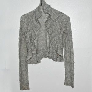 Decree Gray Short Cardigan
